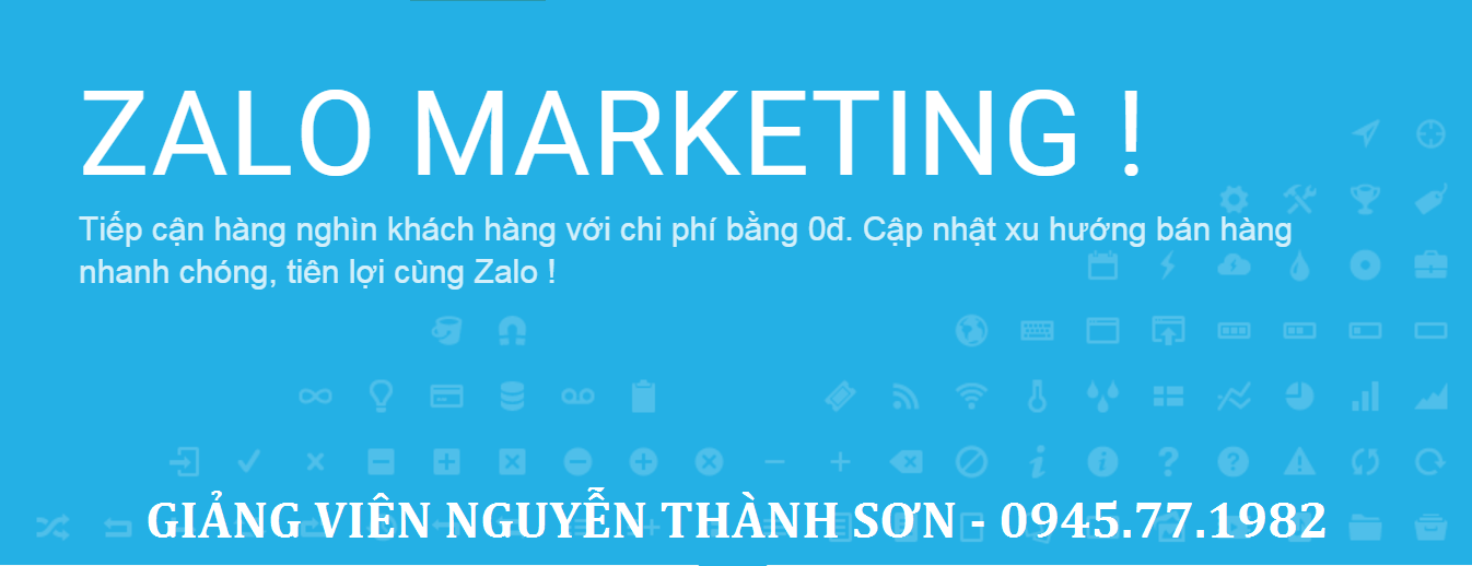 khóa học zalo marketing
